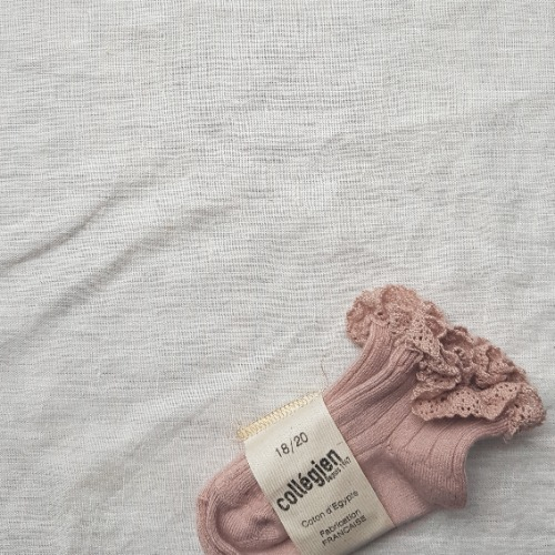 [ 꼴레지앙] LiLi Ankle socks no.331 Vieux Rose