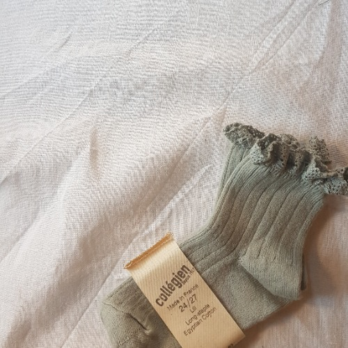 [ 꼴레지앙] LiLi Ankle socks no. 876 AIGUE MARINE