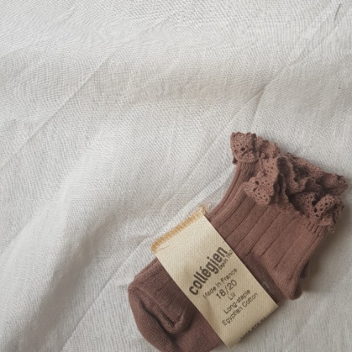 [ 꼴레지앙] LiLi Ankle socks no.875 Praline 프래린